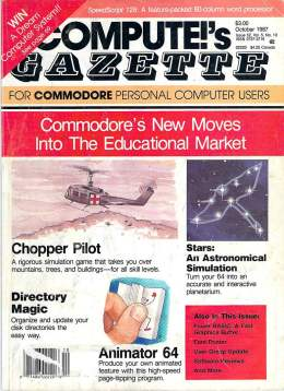 Compute Gazette - Issue 52 - October 1987 - Education Market - Chopper Pilot - Commodore VIC-20 64 128 Amiga