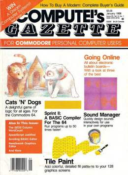 Compute Gazette - Issue 55 - January 1988 - Sprite II Compiler for the 64 Commodore VIC-20 64 128 Amiga