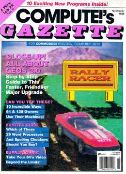 Compute Gazette - Issue 65 - November 1988 - GEOS 2.0 - Desktop Publishing Commodore VIC-20 64 128 Amiga
