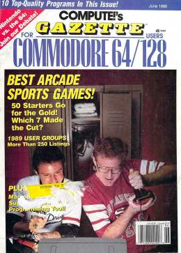 Compute Gazette - Issue 72 - June 1989 - Best Arcade Sports Games - User Groups  Commodore 64 128