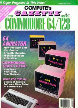 Compute Gazette - Issue 76 - Sept 1989 - 64 Animator - Commodore 64 128
