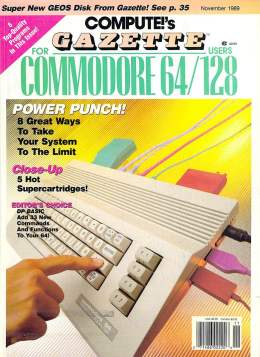Compute Gazette - Issue 77 - November 1989 - Super Cartridges  Commodore 64 128