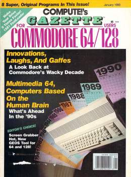 Compute Gazette - Issue 79 - January 1989 - Multimedia 64 Innovations- Commodore  64 128