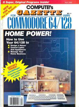 Compute Gazette - Issue 82 - April 1990 - Design a House Commodore  64 128