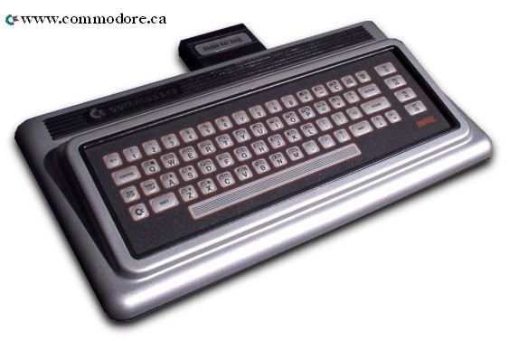 COMMODORE MAX MACHINE: The Max Machine was announced in Germany and Canada it was only released only in Japan. It was effectively a Commodore 64 with only 8K of RAM and a very bad keyboard. This combination makes it one of the rarest production Commodore computers in the world. The system has two joystick ports, a cartridge and cassette port, RF out, audio out, channel select and power input.