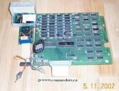 COMMODORE 64K UPGRADE: Yes... you read it correctly... just 64K required all this equipment and space. I have not seen a price list for this unit but I expect that when it was new (likely around 1980) it likely would have sold for US$750. I own this board along with an 8K 2001 which has a similar expansion board which for 24K (bringing the total to 32K). This was a HUGE amount of memory for 1980.