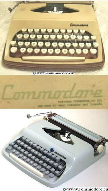 COMMODORE TYPEWRITERS: I am guessing the machine at the top was produced around 1960 but I have no way of knowing for sure. The unit at the bottom was likely produced in the late 70's. Because this is not electronic, this device does not fit into this category but I thought it was neat enough to add anyway.