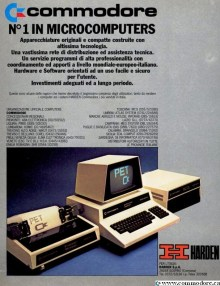 1980 ITALIAN COMMDORE PET 3032 ADVERT BY HR - Commodore is number 1 in microcomputers in Italy in 1980