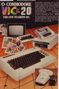 VIC-20, MODEM and PRINTER - From 1982 Canadian Tire (hardware store) advertisement. Scanned by Syd Bolton of Ontario... Thanks Syd!