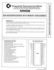 MOS 6509 CPU Manual