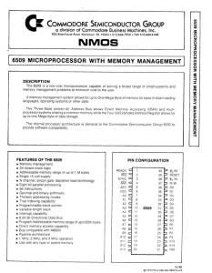 MOS 6509 CPU Manual