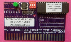 MEG-Uh-GAME-Cartridge-Commodore-VIC-20-w_27C801-Eprom-For-128-programs