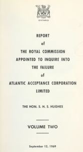 atlantic-acceptance-failure-ontraio-royal-commision-1969