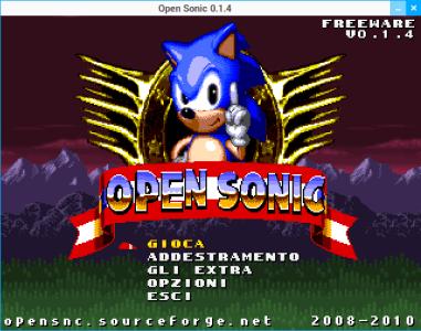 Open Sonic - Titolo
