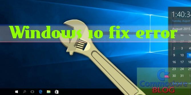 Fix error Windows
