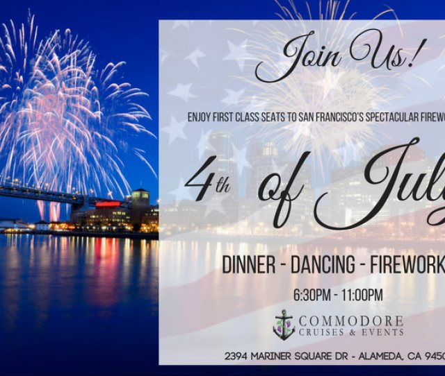 Th Of July Yacht Boat Cruise Dinner Dj Fireworks Event Party