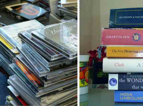 cds and books
