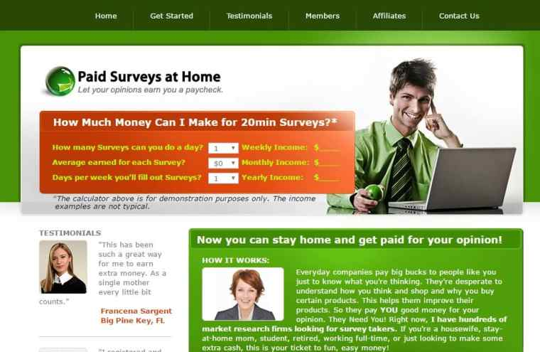 paidsurveys at home