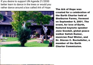 Ark of Hope dance with trees Agenda 2030