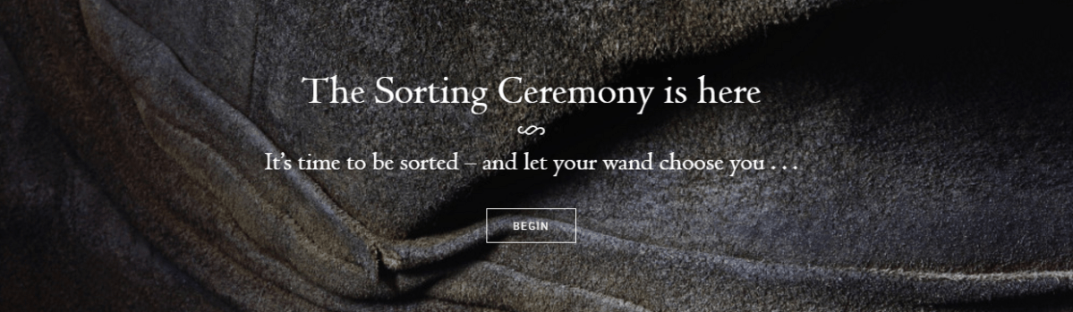 Pottermore updates bring the Sorting Hat back