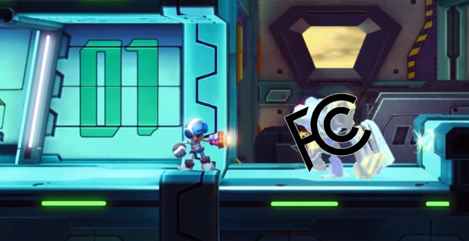 Screenshot from Mighty No 9 trailer, FCC logo courtesy of FCC.gov