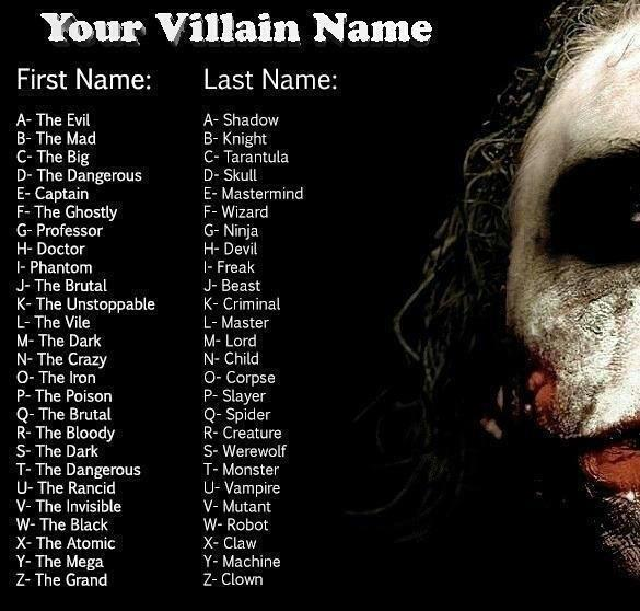 Your Villain Name