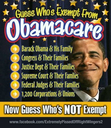 Guess Who's Exempt From ObamaCare
