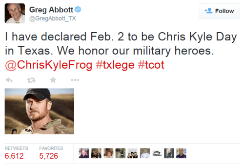 Chris Kyle Day - Greg Abbott