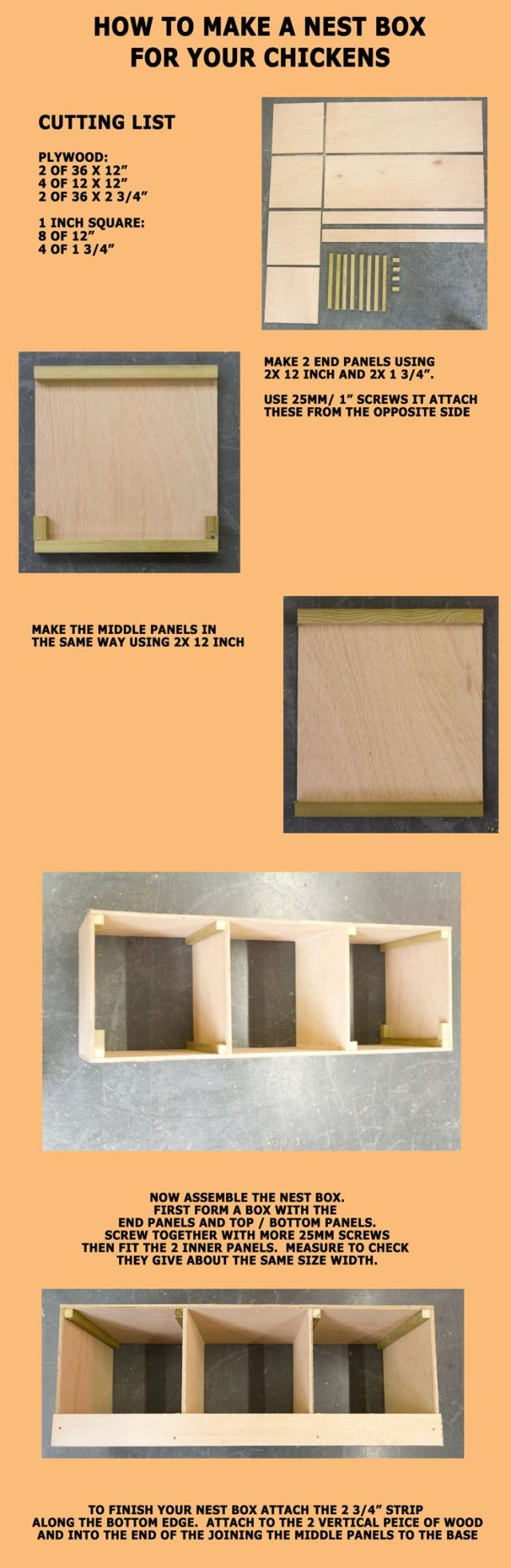 How to make a nest box for your chickens