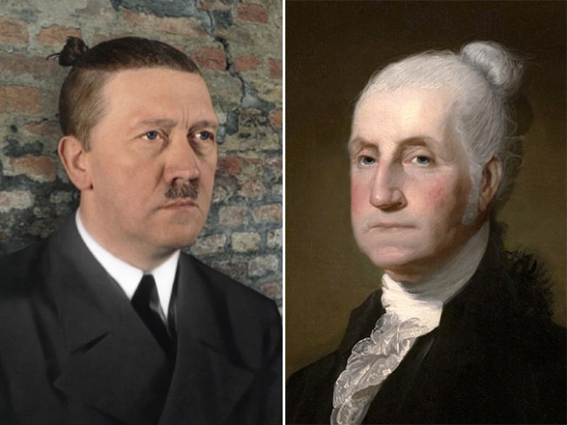 Politicians With Man Buns Hitler and Washington