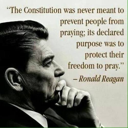 Freedom To Pray - The Constitution was never meant to prevent people from praying; its declared purpose was to protect their freedom to pray.
