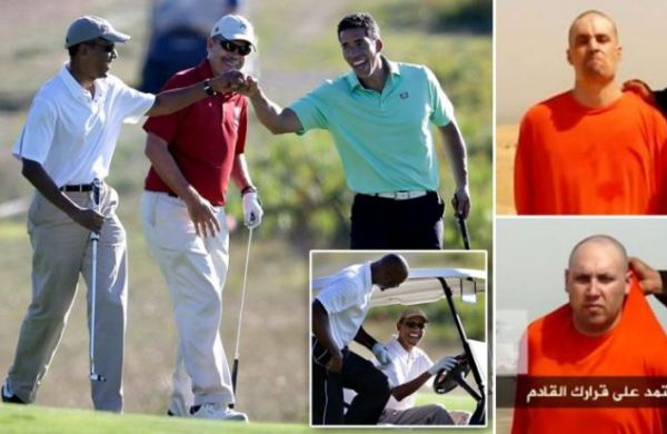 Obama fist-bumping, high-fiving after beheading