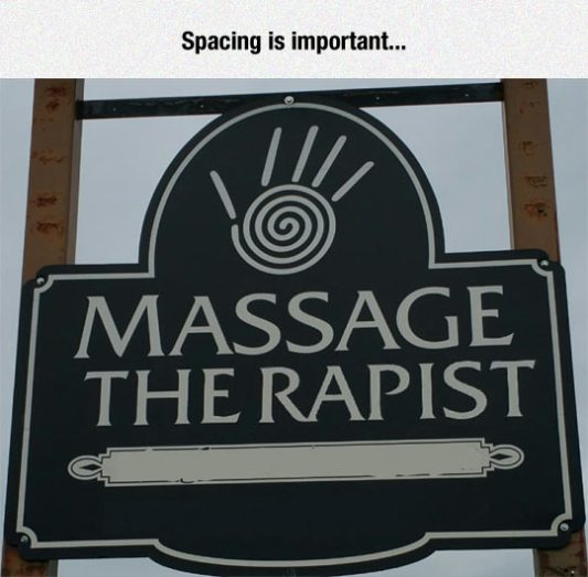 Sign Of The Day Spacing
