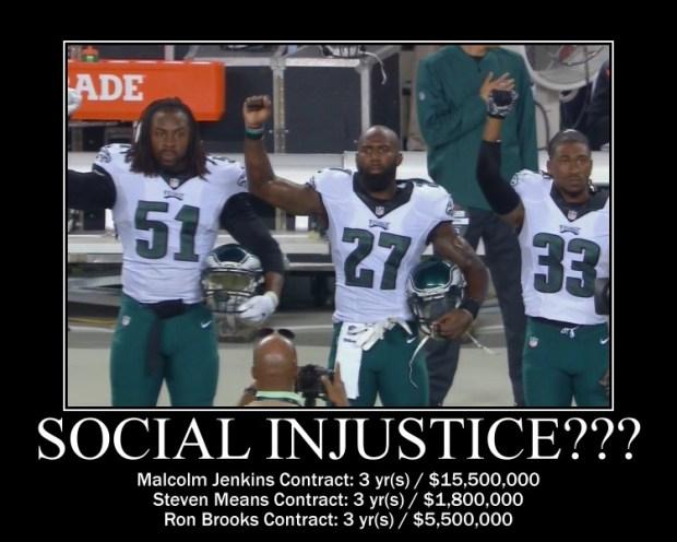social injustice - Philadelphia Eagles Protest Idiots ©Common Sense Evaluation