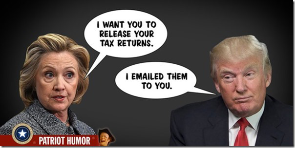 hillary: release your tax returns donald