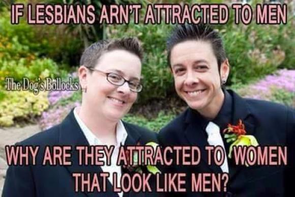 If Lesbians aren't attracted to men, why are they attracted to women that look like men?
