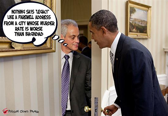 At Obama's Door Rahm