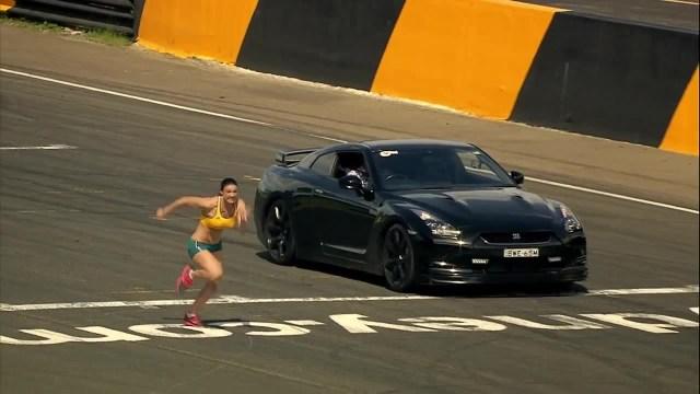Nissan GTR vs A Woman