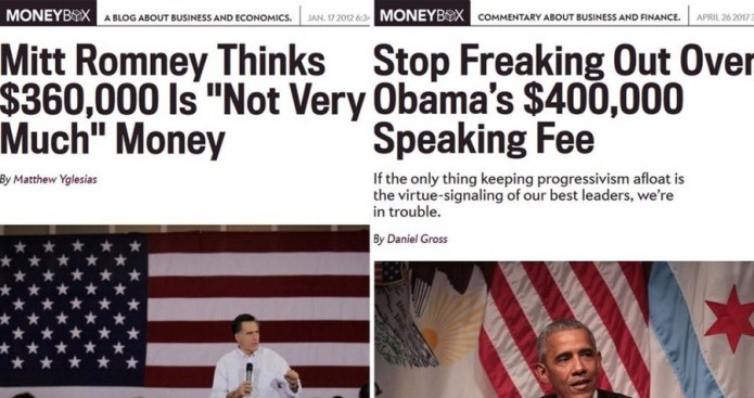 Media Propaganda Of The Day: Romney vs. Obama Speaking Fees
