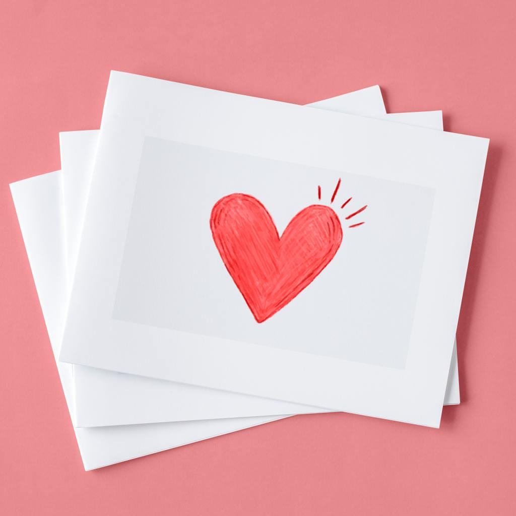 paper with heart on it
