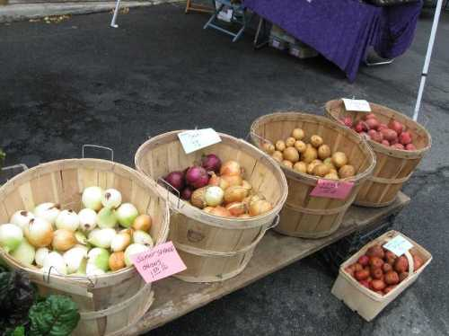 Confession - this photo was taken in the fall, but suggest just a sampling of the Winterfare produce.