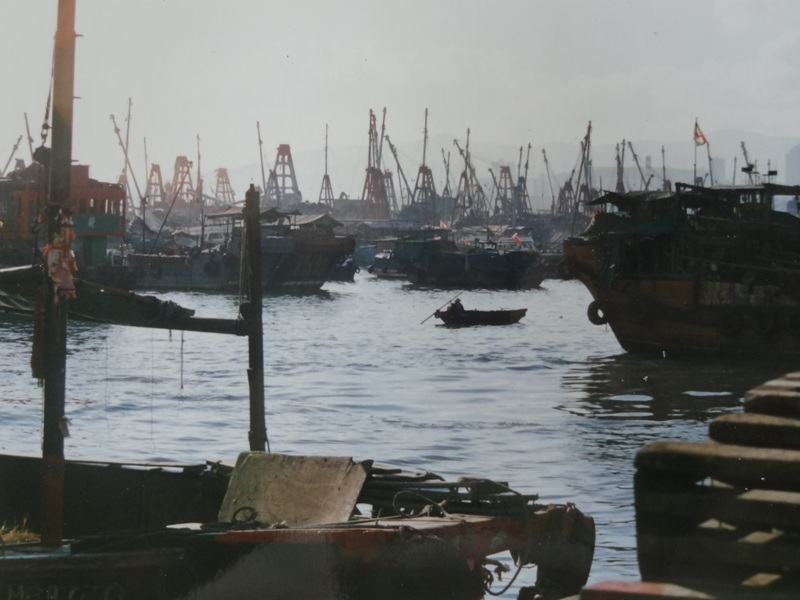 Boats in the Hong Kong bay