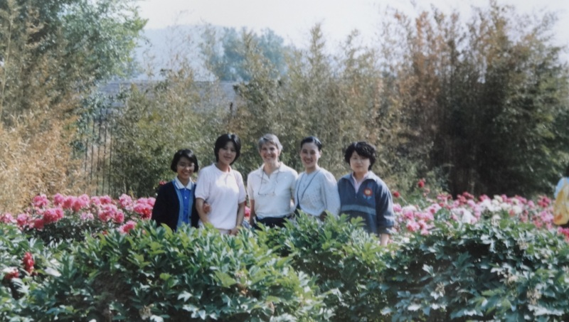 Chinese students with me at the Beijing Botanical Garden.
