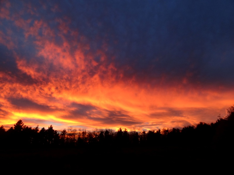 Sunset on October 28, 2014
