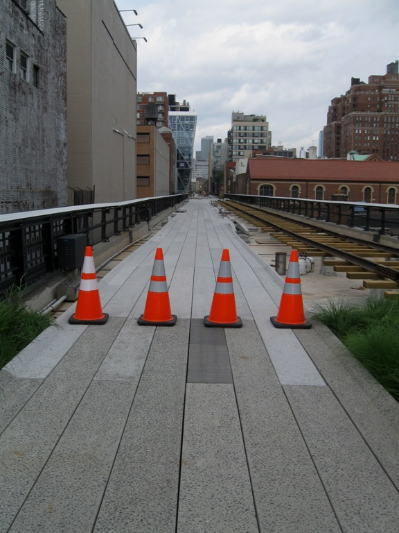 End of the High Line in May 2010