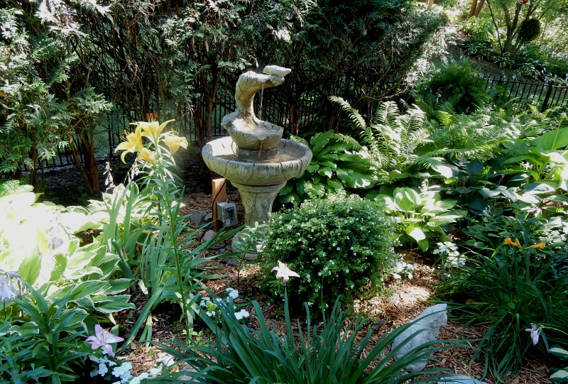 Dan and Dianne's small fountain
