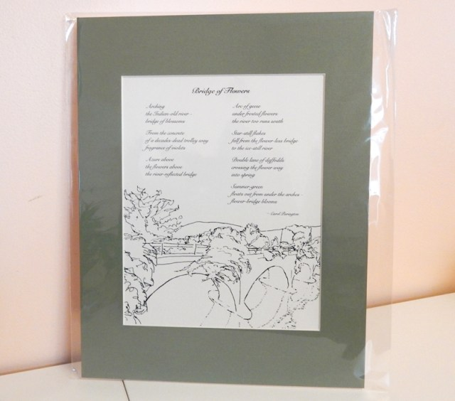 Bridge of Flowers cycle by Carol Purington