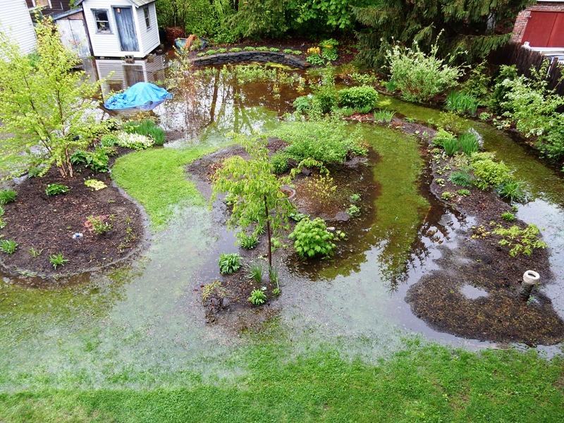 Spring flood tide