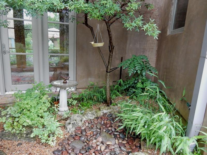 One corner in one of the Stocker garden's