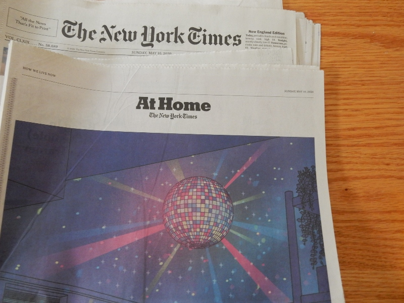 New York Times At Home section